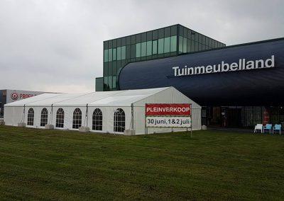 Aluminium tent voor Tuinmeubelland
