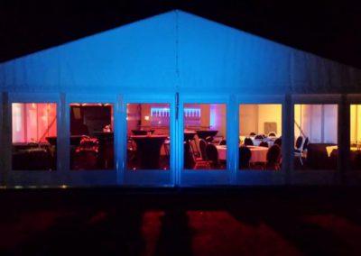 Verlichting in tent