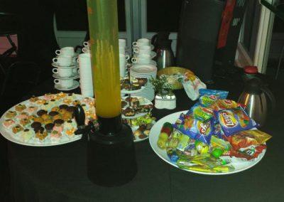 Snacks bij een koperen bruiloft