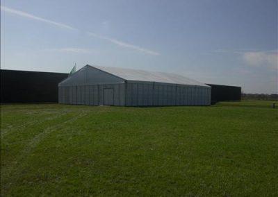 Witte tent van 15 meter