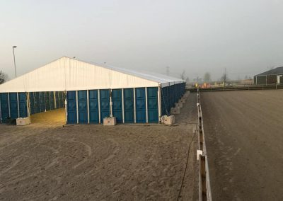 Manege bij winterse temperaturen